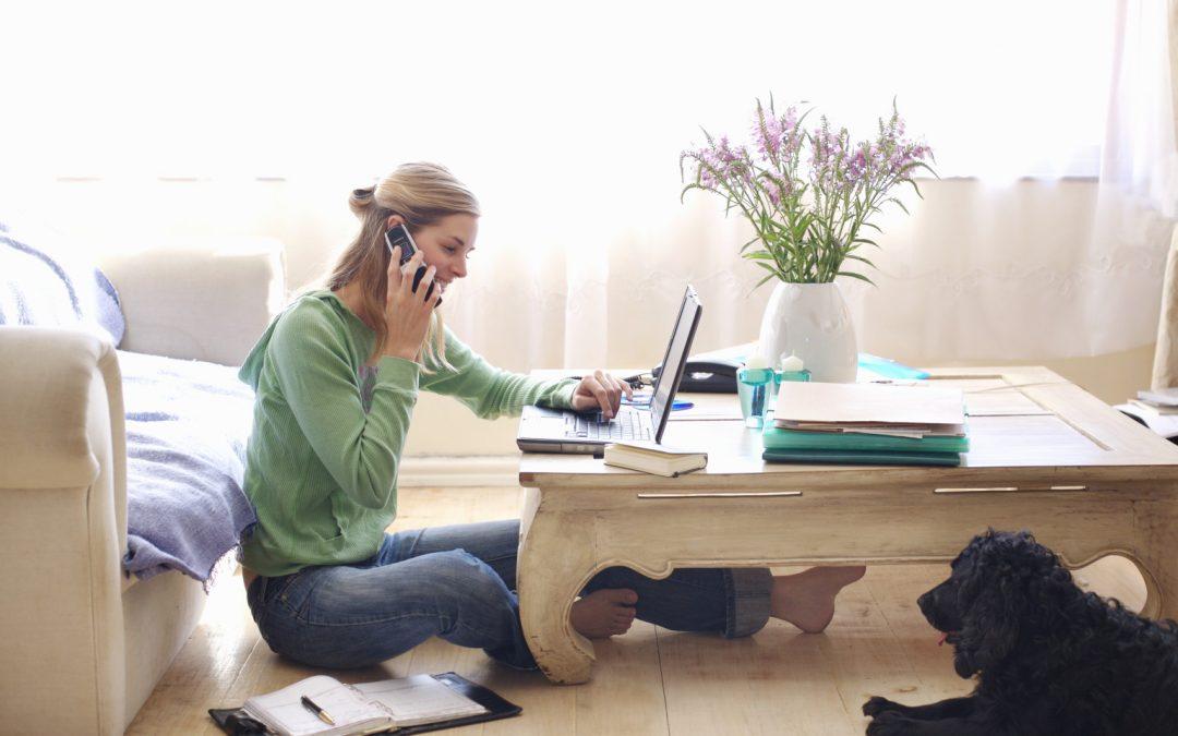 self employed woman starting a business